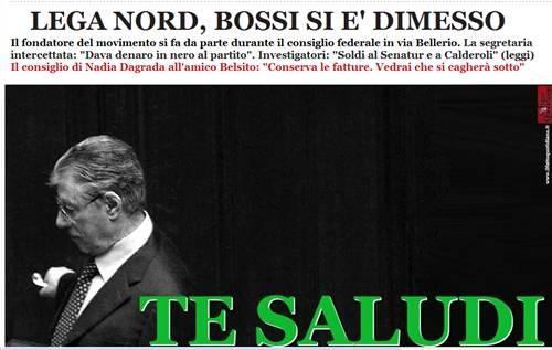 padania ladrona, lega nord, bossi, calderoli, maroni, finanziamento partiti, rimborso elettorale, roma, roma ladrona, risata